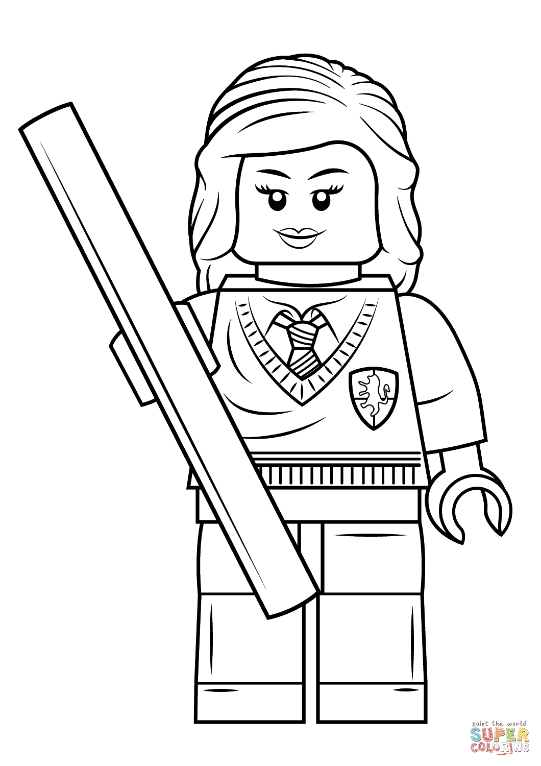 1060x1500 Lego Hermione Granger Coloring Page Free Printable Coloring