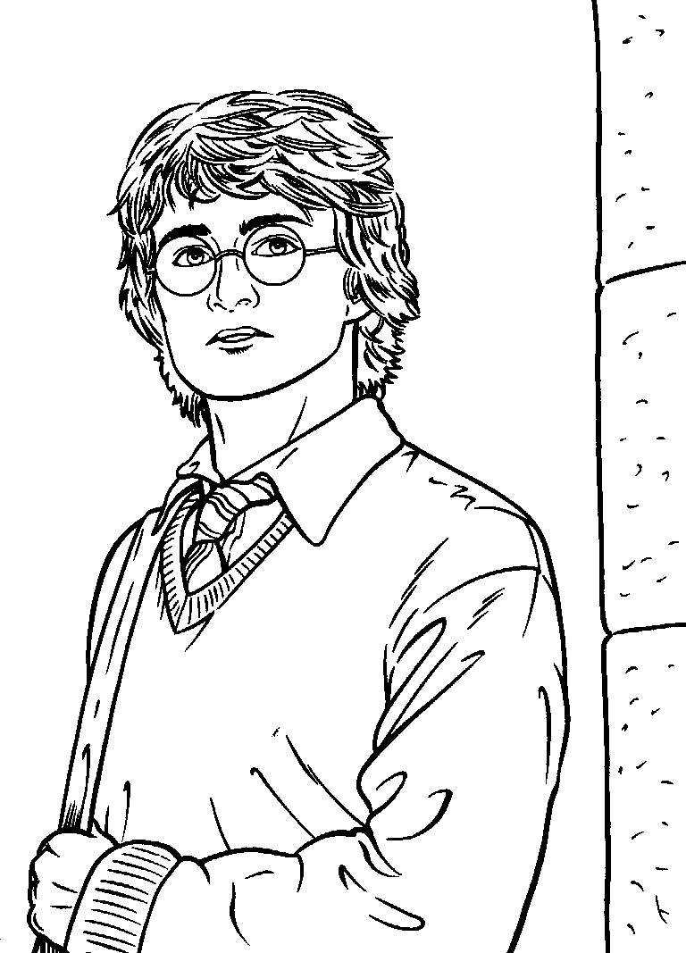 768x1067 Free Printable Harry Potter Coloring Pages For Kids With Page