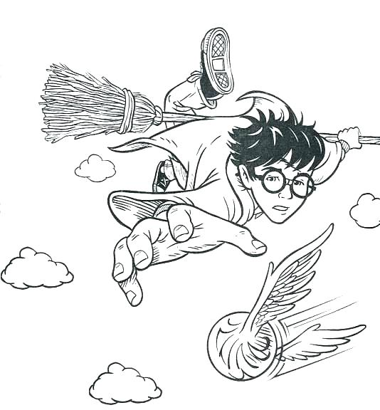 534x576 Harry Potter Coloring Page Free Printable Harry Potter Coloring