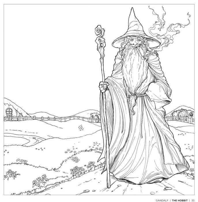 687x700 The Hobbit Coloring Pages Best Coloring The Hobbit Coloring Pages
