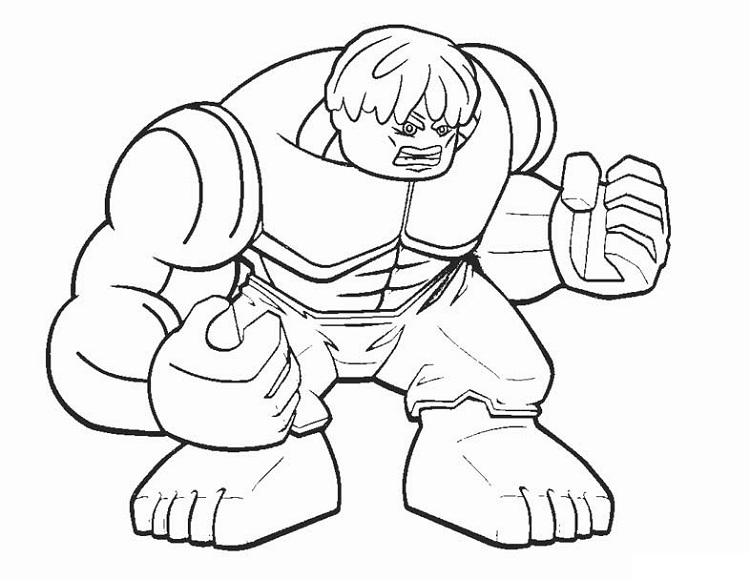 Lego Hulk Coloring Pages At Getdrawingscom Free For Personal Use