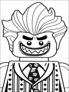 236x314 Coloring Page The Joker The Lego Batman Movie
