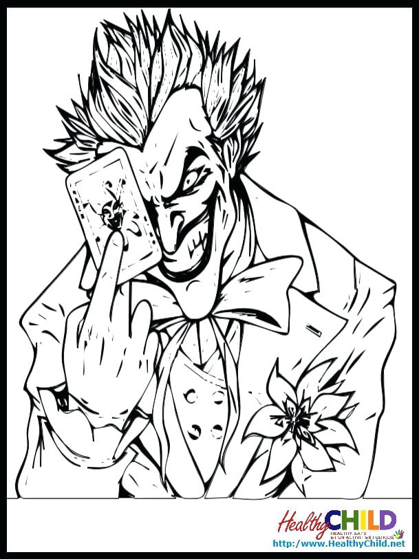 609x813 Joker Coloring Pages The Joker Coloring Pages Batman And Joker