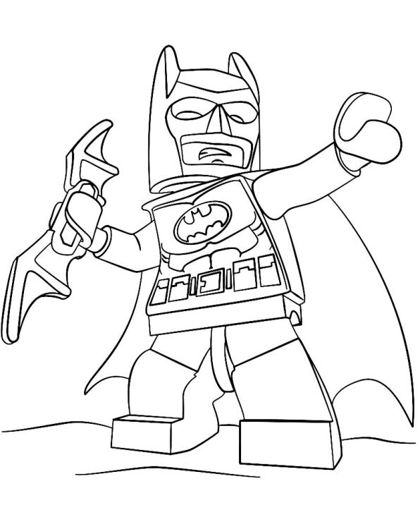 596x740 Kids N Coloring Pages Of Lego Batman Movie