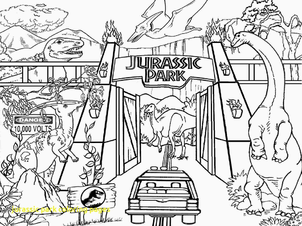 1024x768 Jurassic Park Coloring Pages With Coloring Pages Dinosaur Drawing