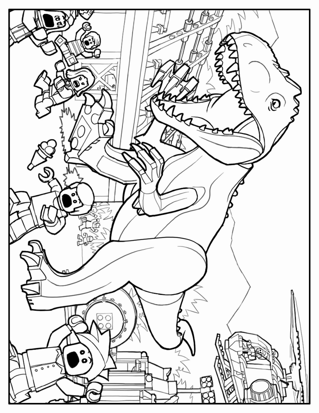1082x1400 Lego Jurassic World Coloring Book