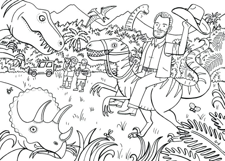 768x548 Lego Jurassic World Coloring Pages Colouring Book World Lego