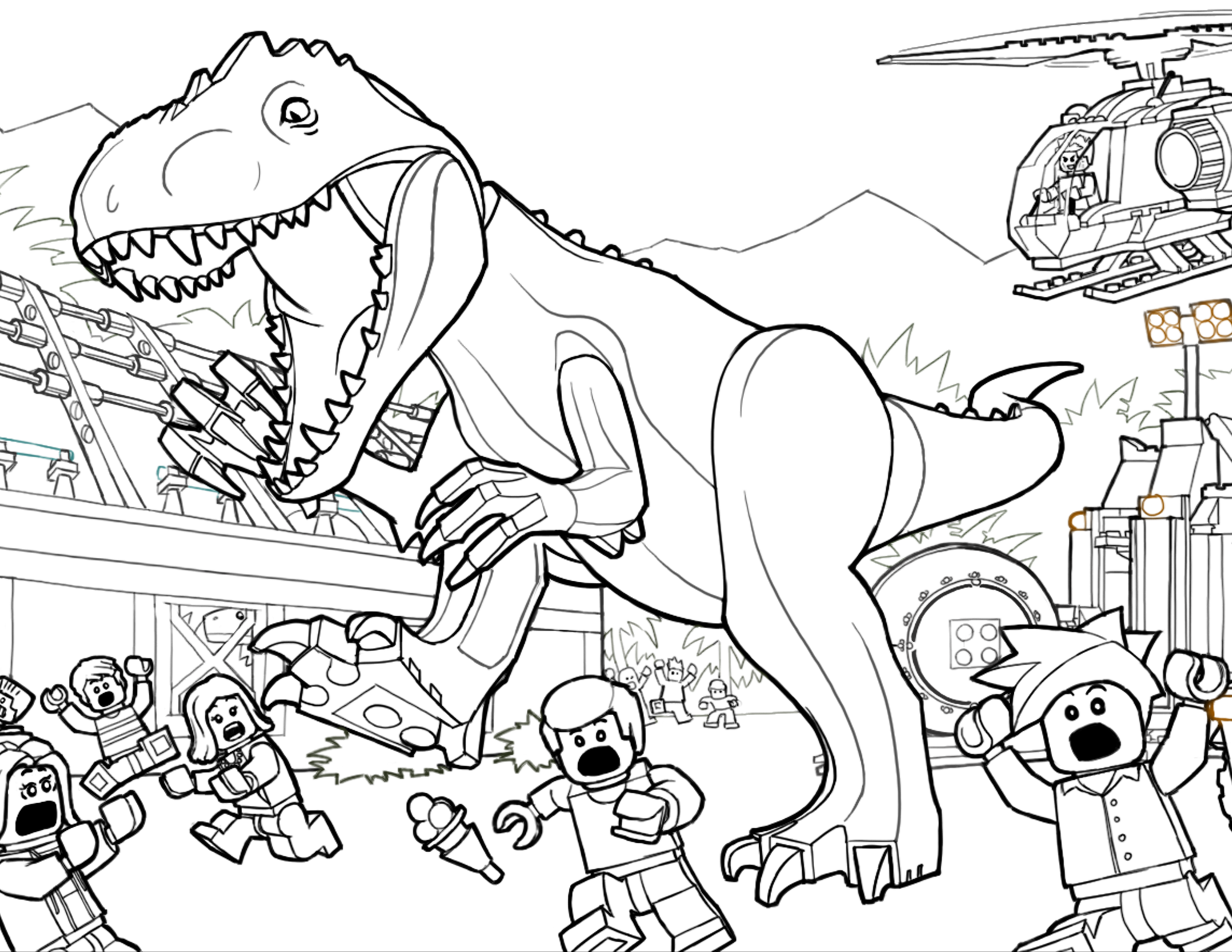 3300x2550 And Jurassic Park Coloring Pages