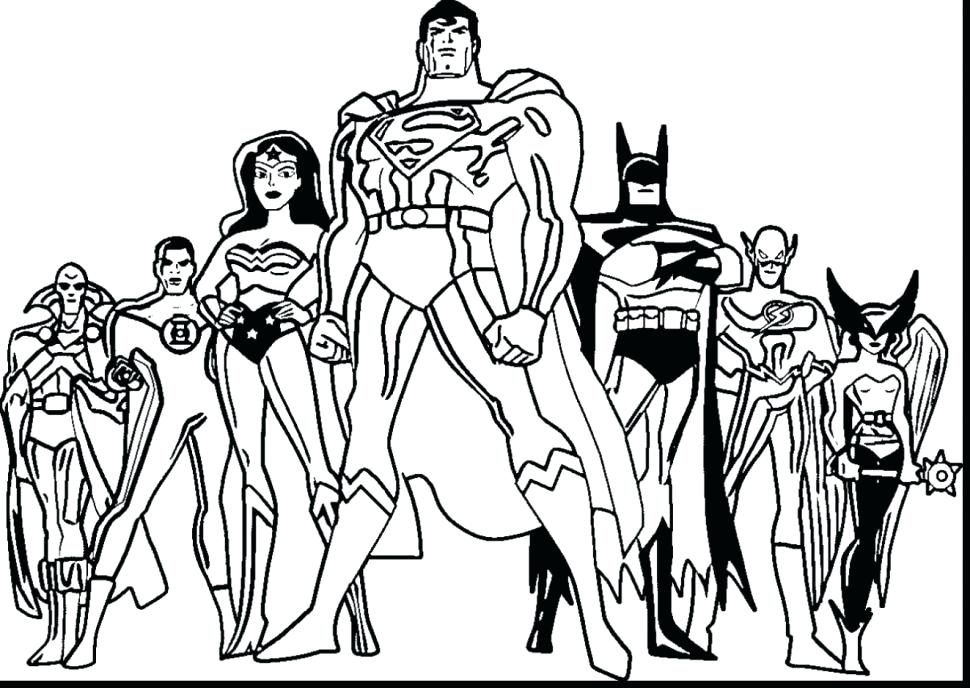 970x688 Justice League Coloring Pages Coloring Pages Justice League