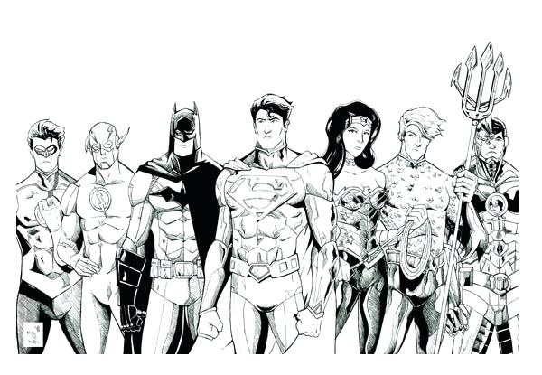 600x415 Justice League Coloring Pages Plus Justice League Coloring Page