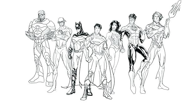 600x330 Lego Justice League Coloring Pages Justice League Coloring Page