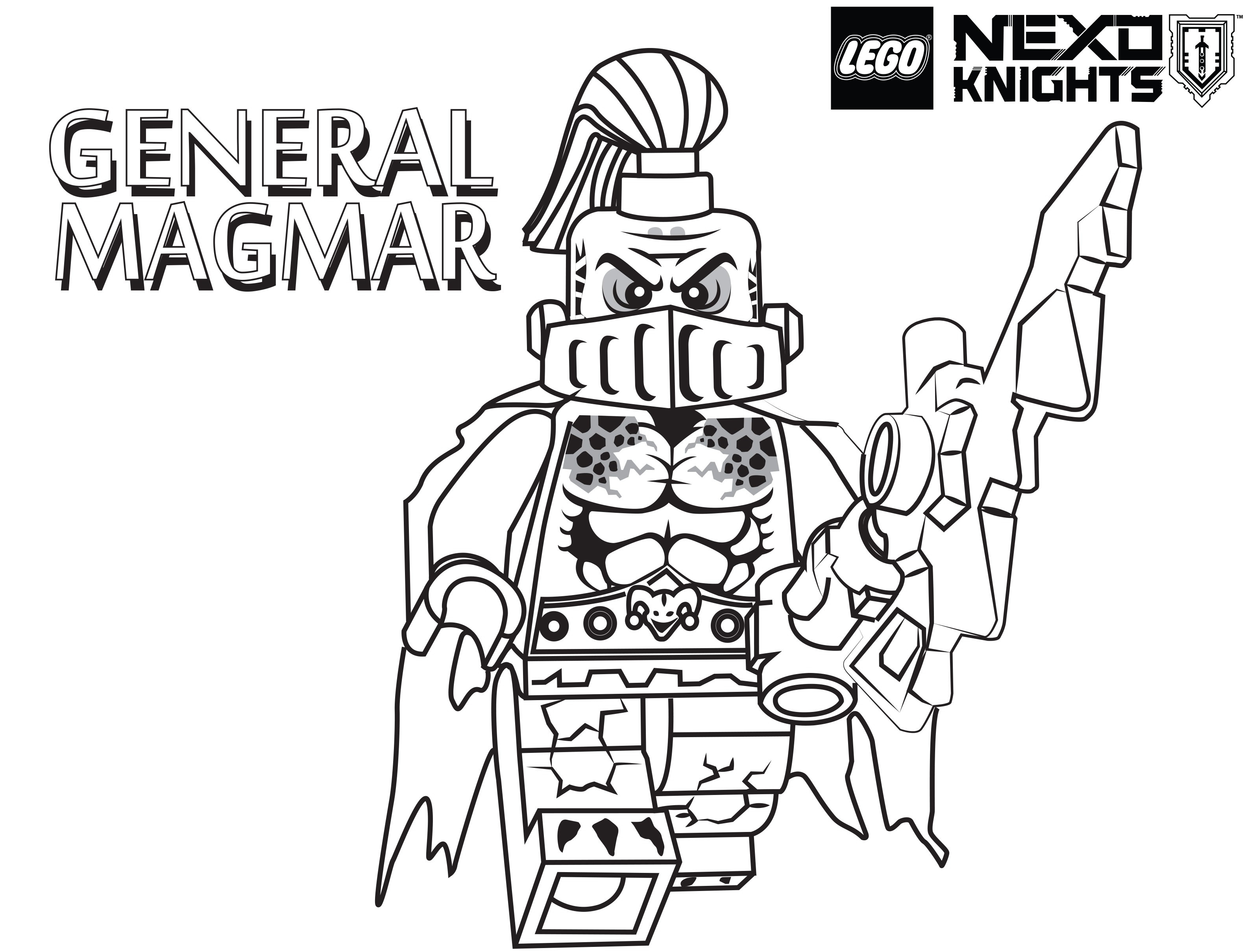 3166x2419 Knight Coloring Page Free