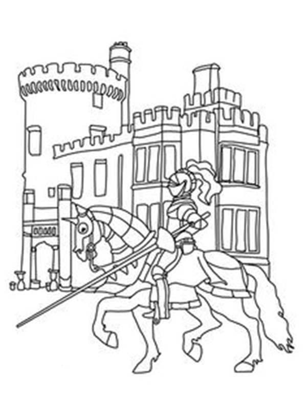 600x773 Knights And Castles Coloring Pages