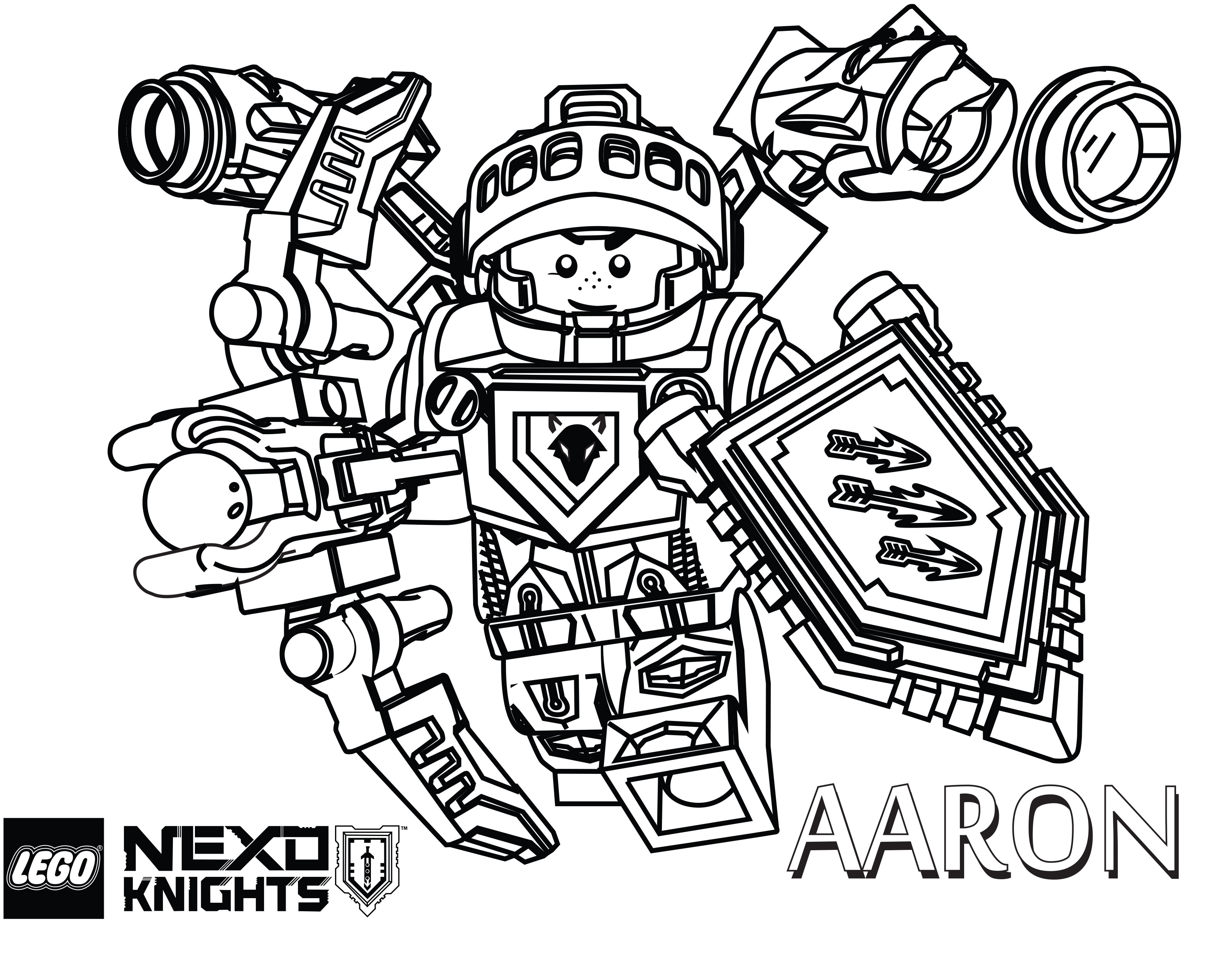 3192x2521 Lego Nexo Knights Coloring Pages
