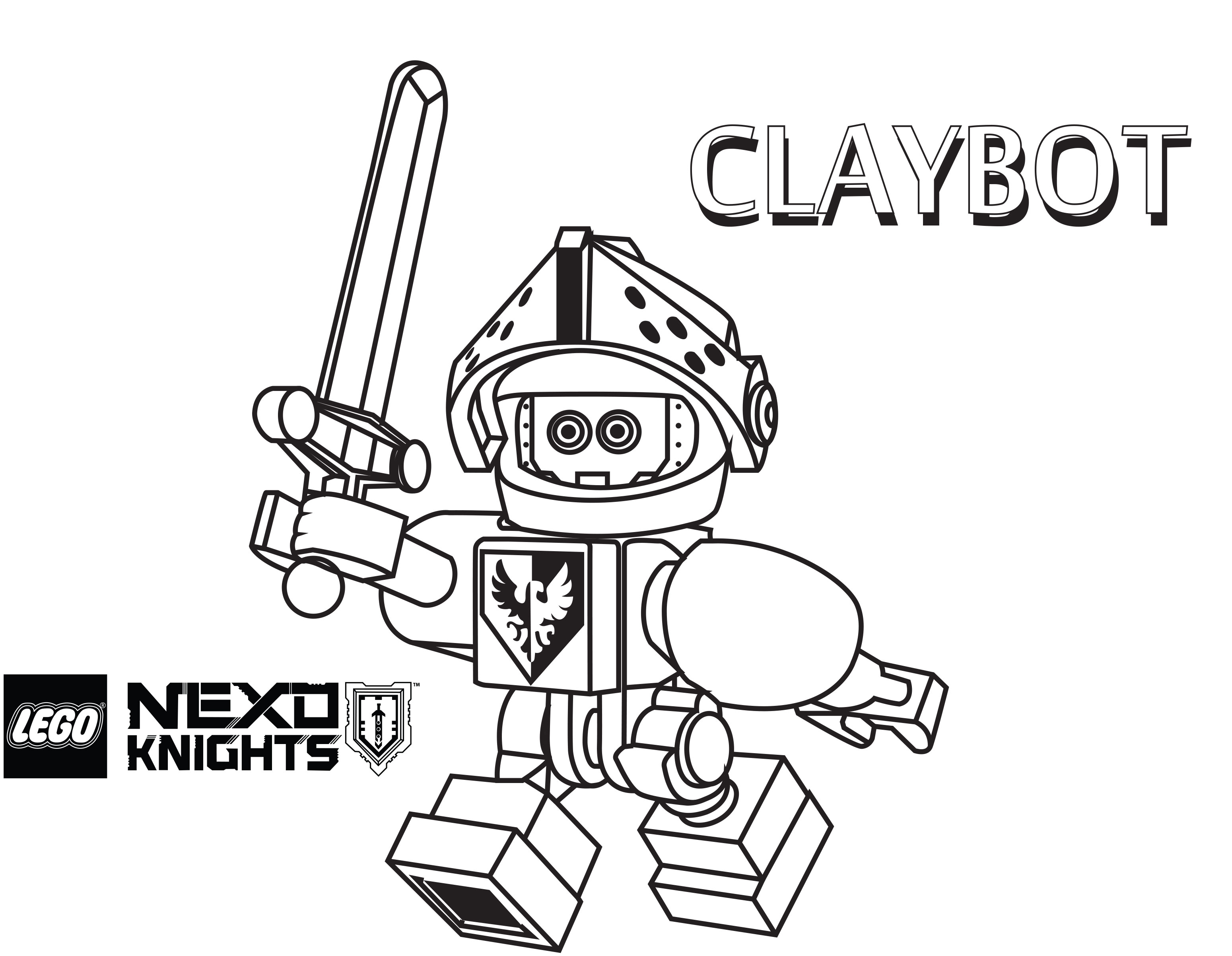 3098x2404 Lego Nexo Knights Coloring Pages Claybot