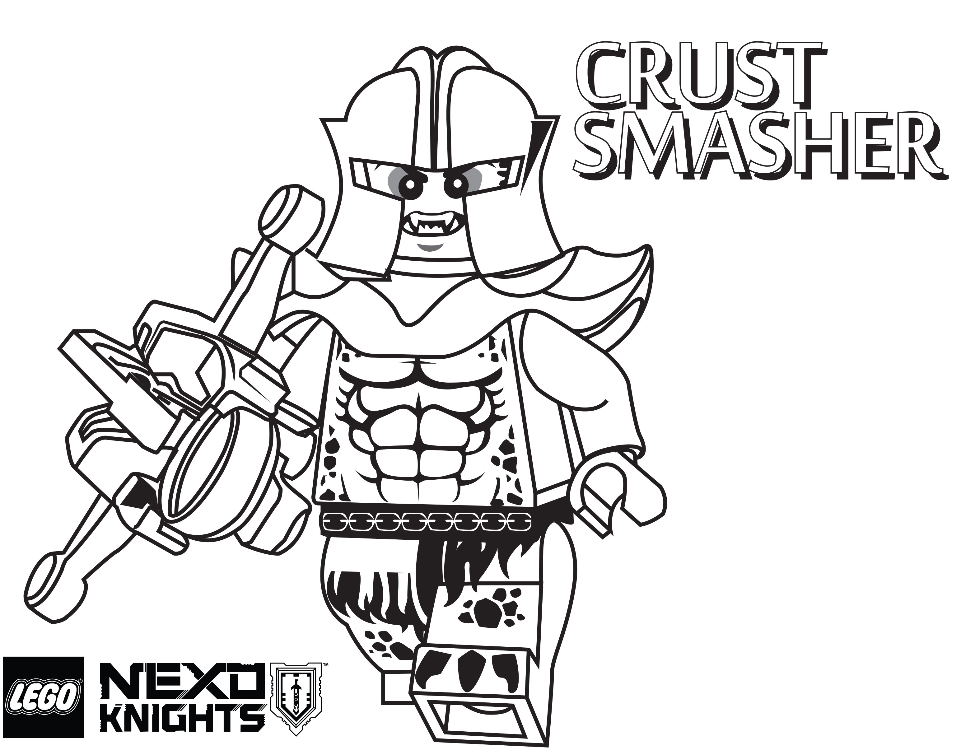 3134x2411 Lego Nexo Knights Coloring Pages Crust Smasher