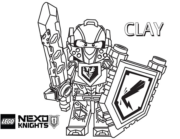 600x463 New Lego Nexo Knights Coloring Pages Released! The Brick Show