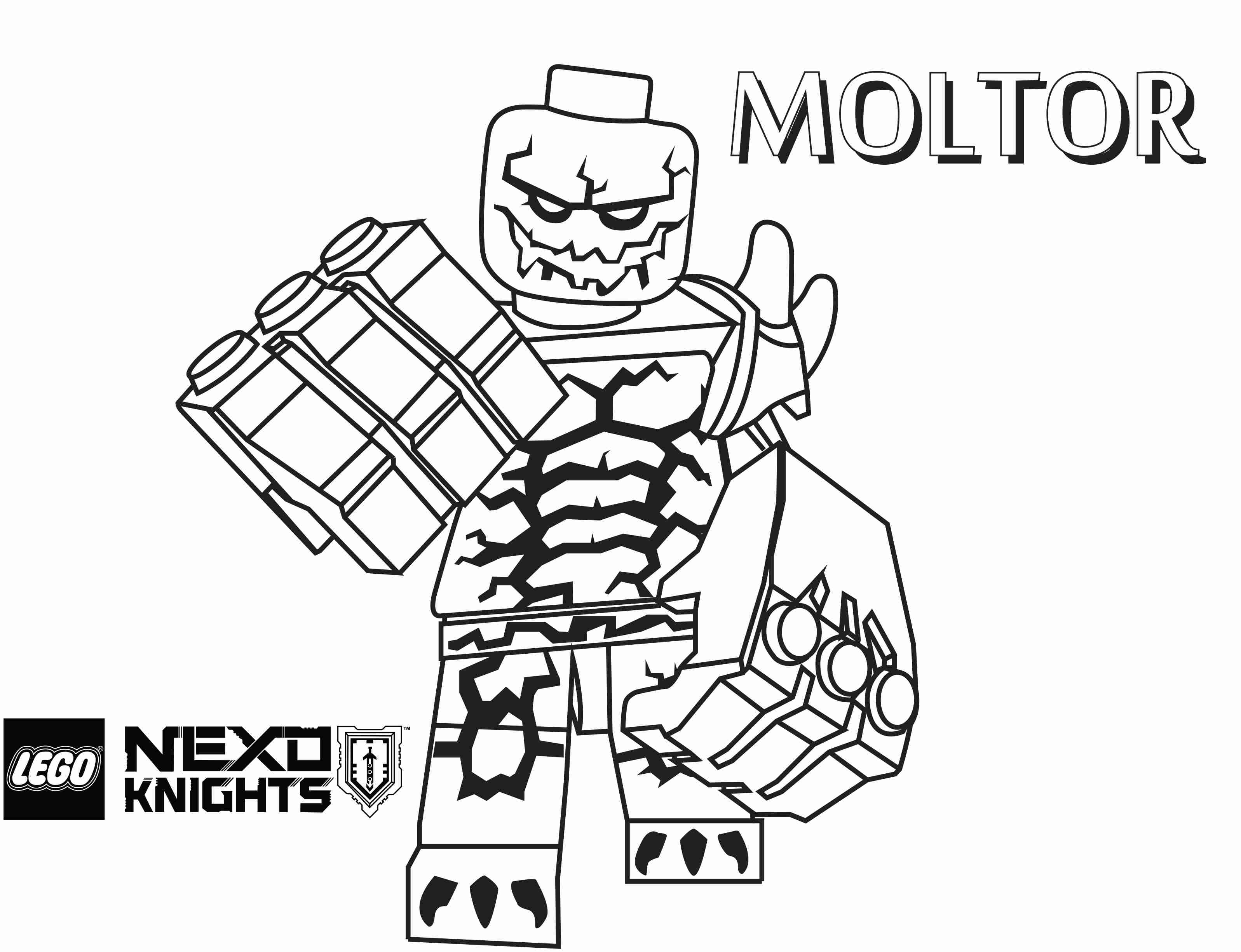3194x2451 Moltor Coloring Page Printable Sheet Lego Nexo Knights Endear Lego