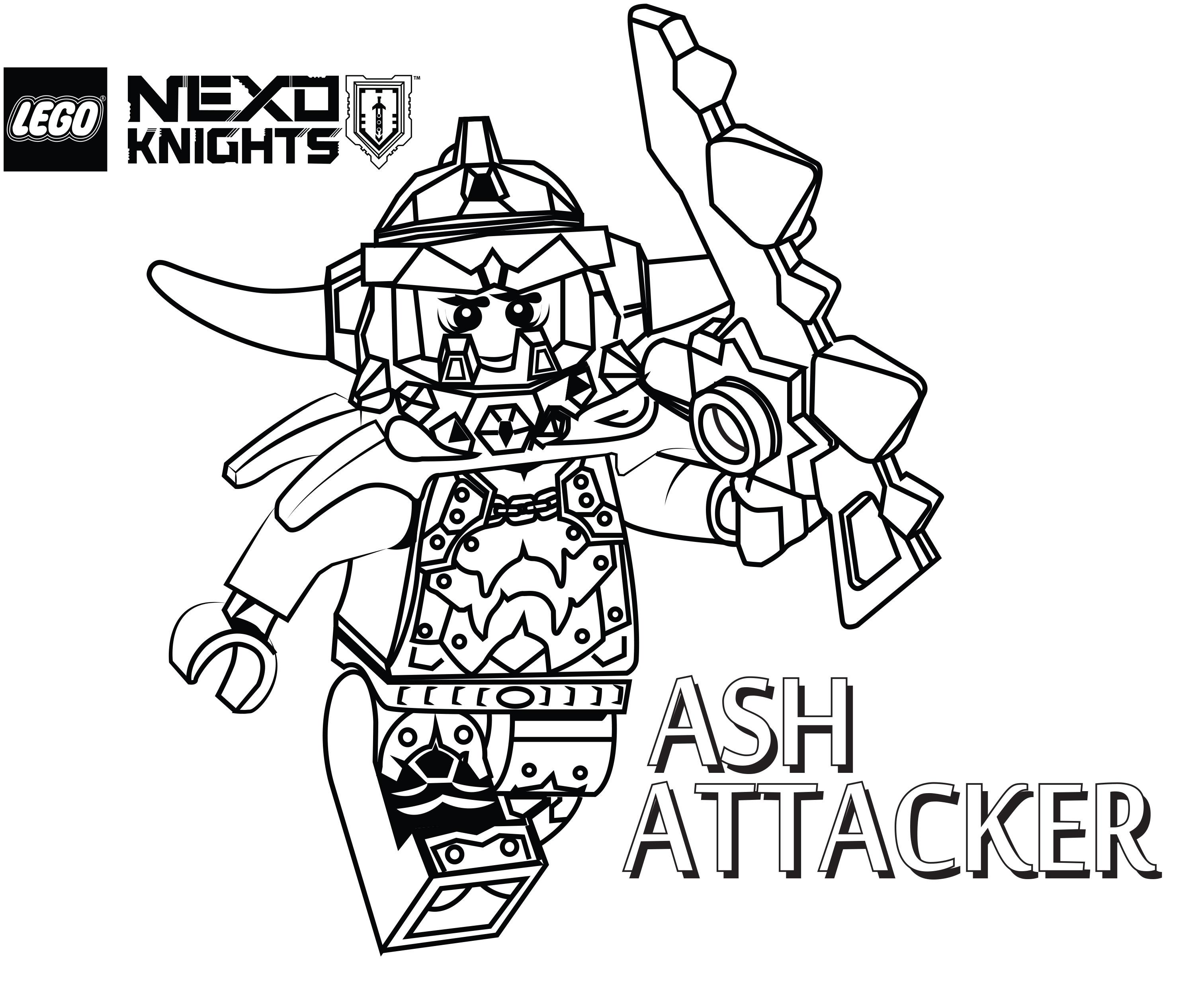 3024x2499 Ash Attacker Coloring Page, Printable Sheet