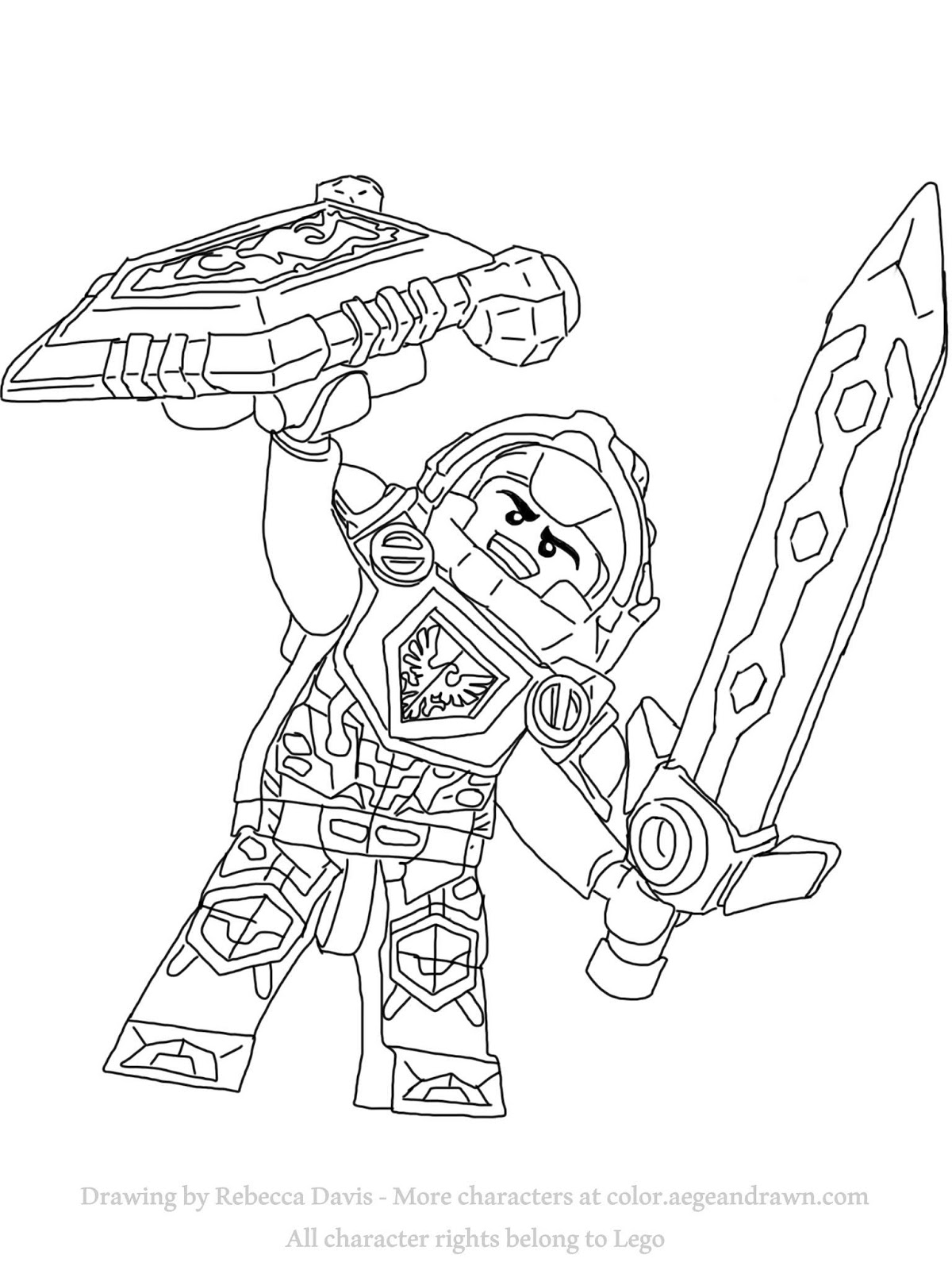 1200x1600 Nexo Knights Coloring Pages Aegean Drawn