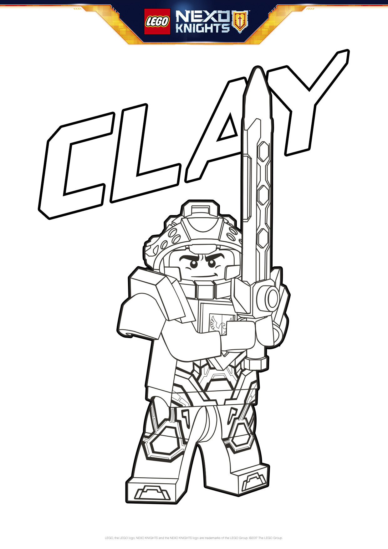 1240x1754 Clay Coloring Page