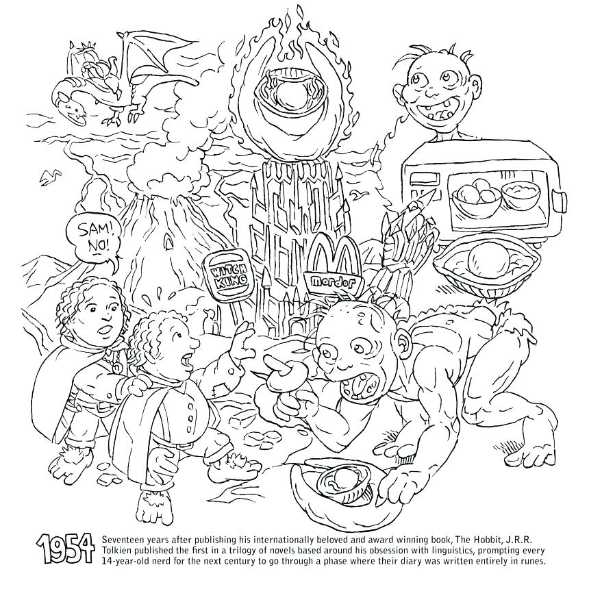 860x860 Lego Lord Of The Rings Colouring Pages Coloring Page Movies