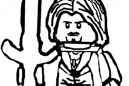 450x300 Aragorn Lego Lord Of The Rings Coloring Page School Coloring
