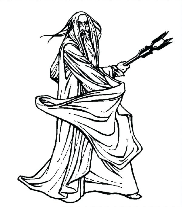 600x685 Lotr Coloring Pages The White In The Lord Of The Rings Coloring