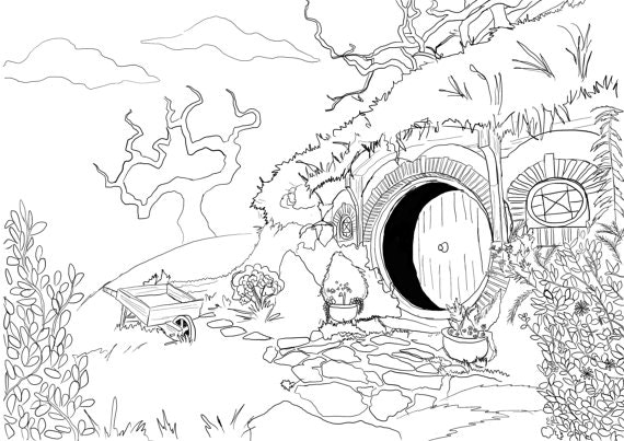 570x403 Marvellous Lord Of The Rings Coloring Pages For Lotr Remodel