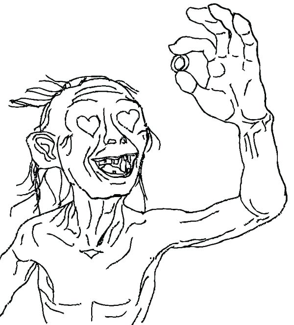 600x663 Lotr Coloring Pages