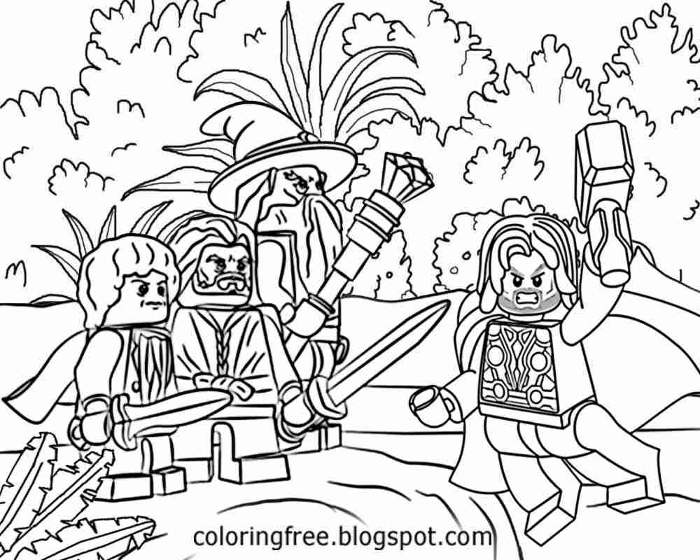 1000x800 Lego Lord Of The Rings Coloring Pages Page Picturesque Olegratiy
