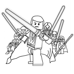 Lego Luke Skywalker Coloring Pages at GetDrawings.com ...