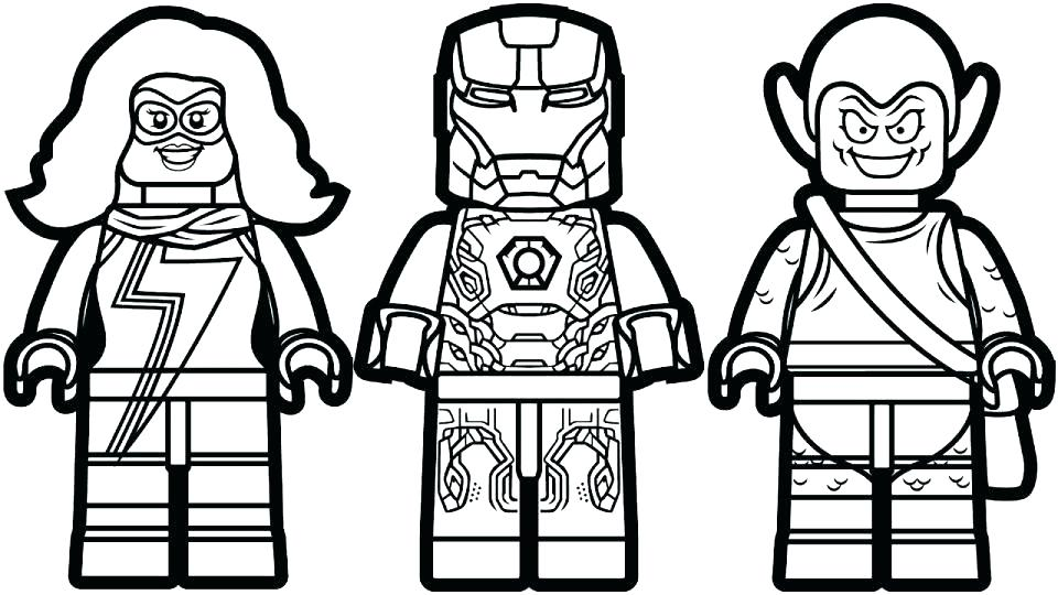 Lego Marvel Coloring Pages At Getdrawings Com Free For Personal
