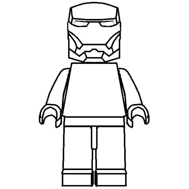 618x618 Lego Minifigure Coloring Pages Blank Coloring Page Pages Crook