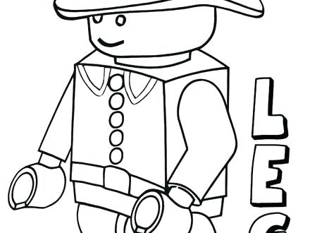 440x330 Lego Minifigure Coloring Pages Free Robot Coloring Sheets For Kids