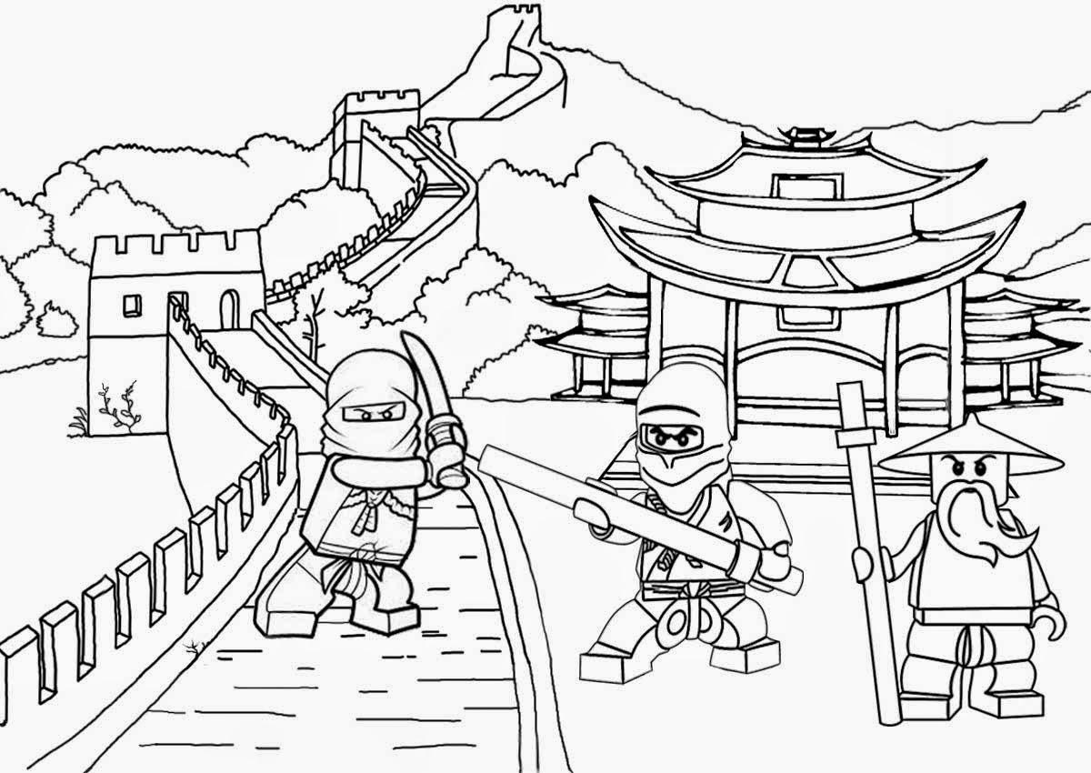 1200x850 Lego Minifigure Coloring Pages Landscape Battles Ambush Ninjago
