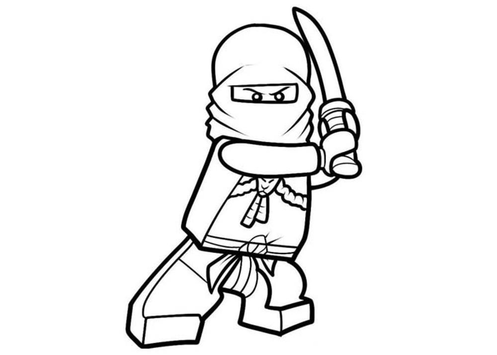 1000x714 Lego Minifigure Coloring Pages