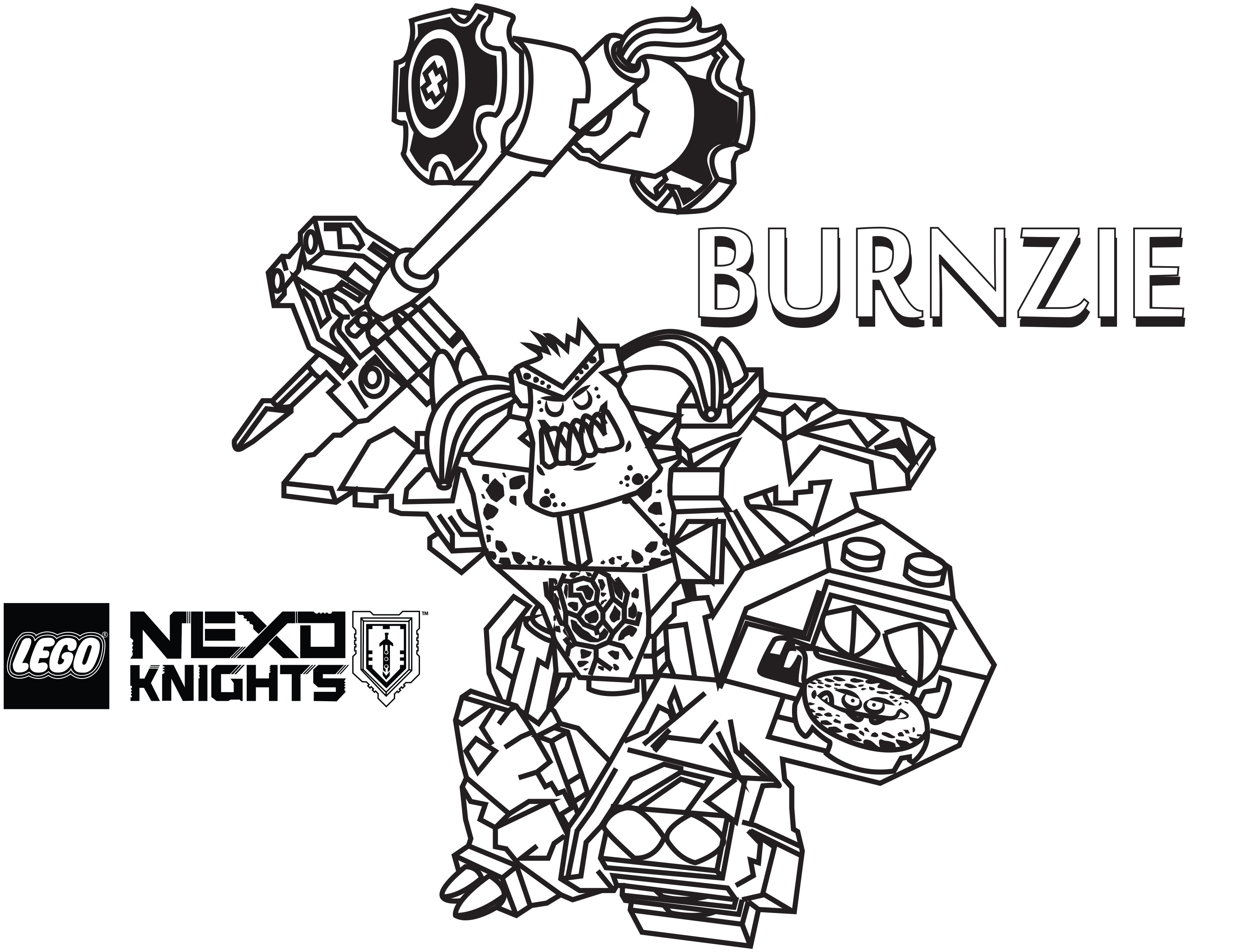 3098x2346 Lego Nexo Knights Coloring Pages Burnzie