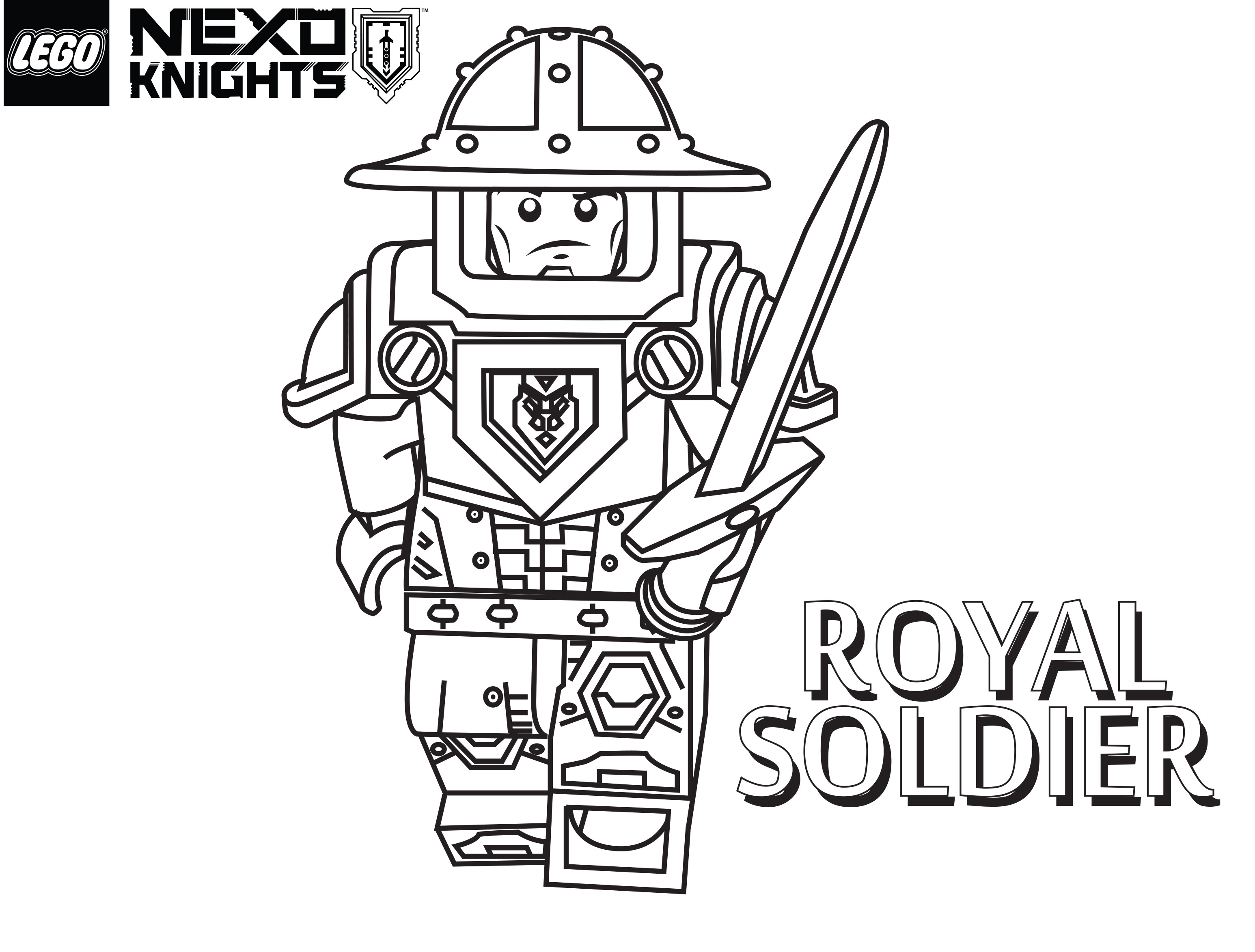 3092x2346 Lego Nexo Knights Coloring Pages Royal Soldier