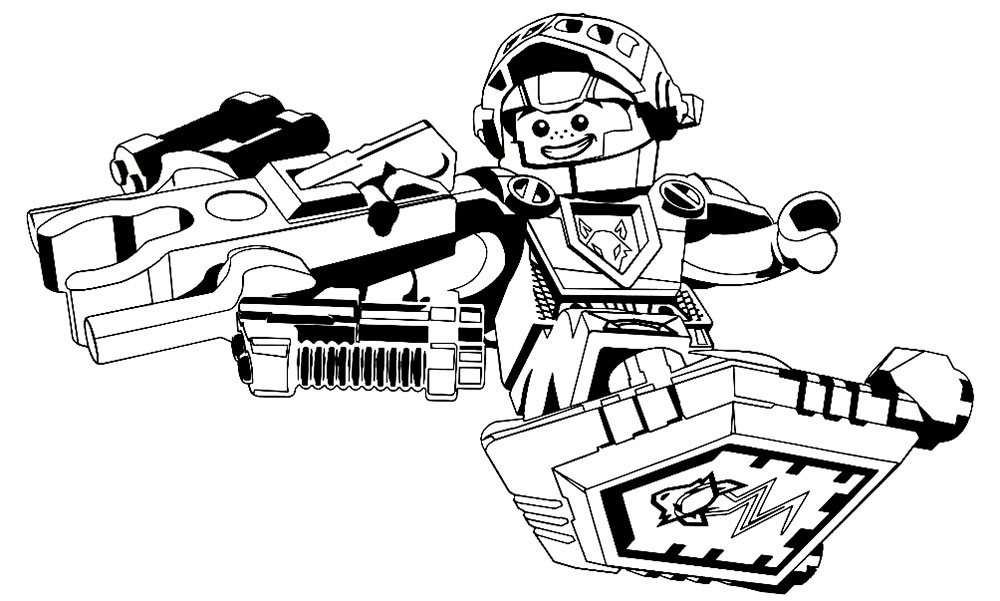1000x601 Lego Nexo Knights Coloring Pages