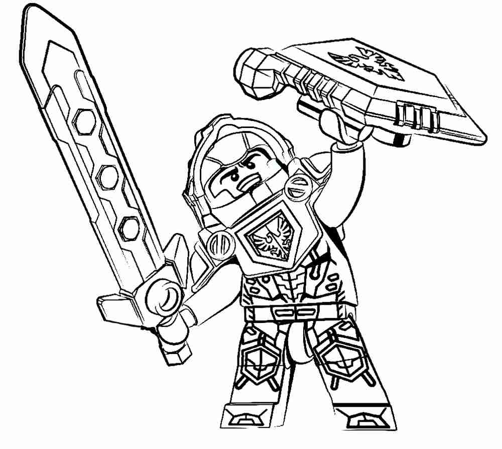 1000x894 Nexo Knights Coloring Pages Noticeable Lego Olegratiy