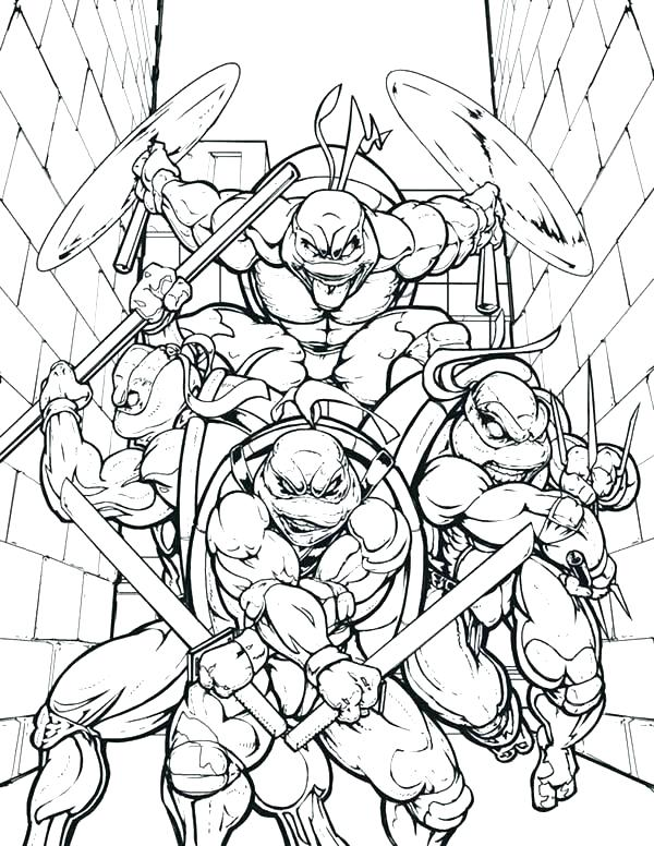 600x776 Ninja Turtle Coloring Pages Full Size Coloring Page For Kids