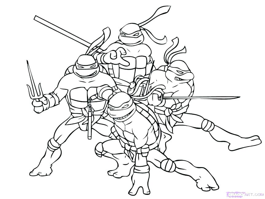 863x649 Ninja Turtles Coloring Pages To Print Free Stock Ninja Turtle Cute