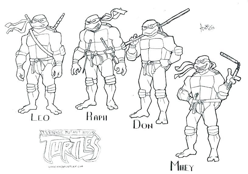 815x574 Ninja Turtles Coloring Sheet Teenage Mutant Ninja Turtles Coloring