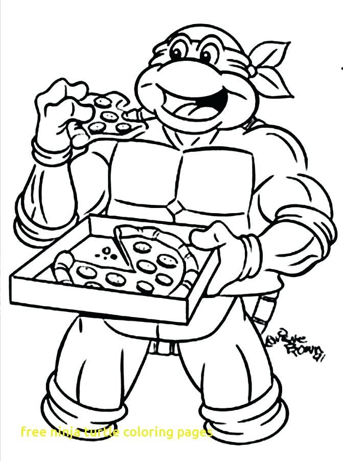 671x902 Free Ninja Turtle Coloring Pages With Teenage Mutant Ninja Turtles