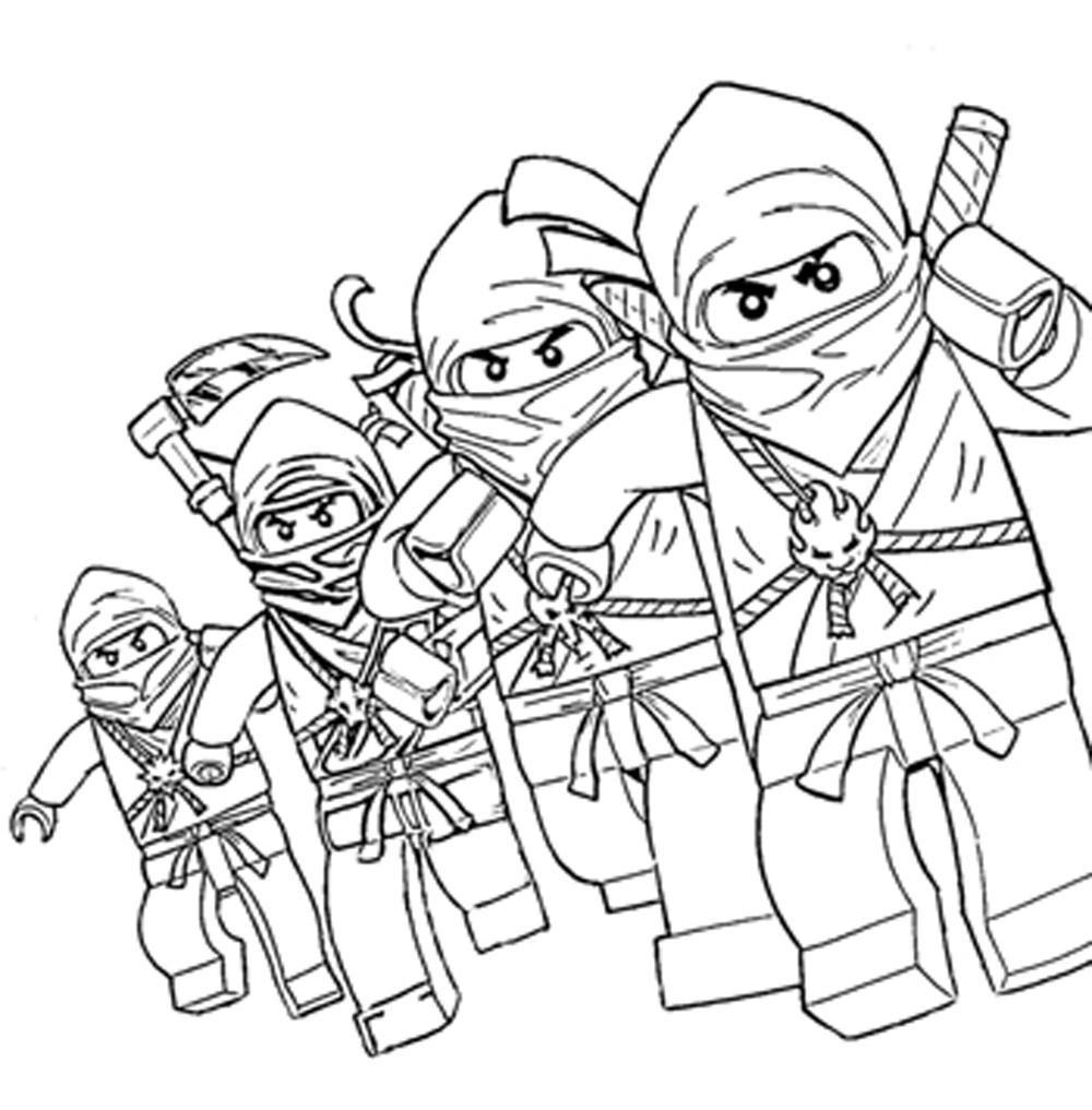 1000x1017 Lego Ninjago Characters Coloring Pages Printable Kids Colouring