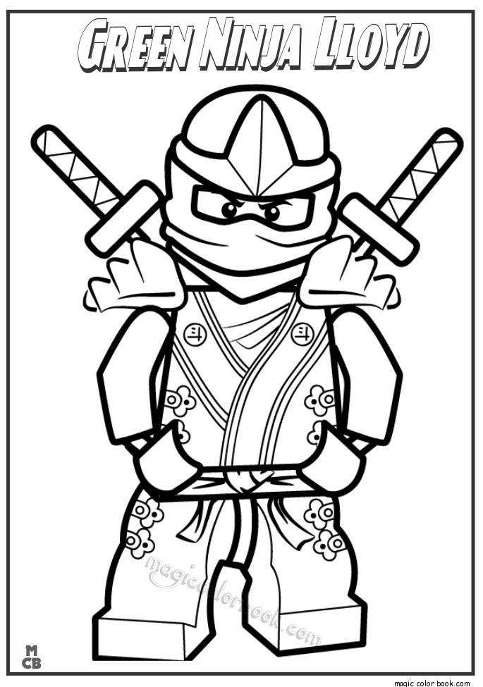 685x975 Green Ninja Lloyd Lego Coloring Pages