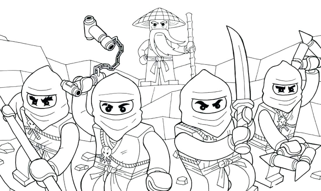 1100x655 Lego Ninjago Coloring Page Coloring Pages Coloring Pages With His