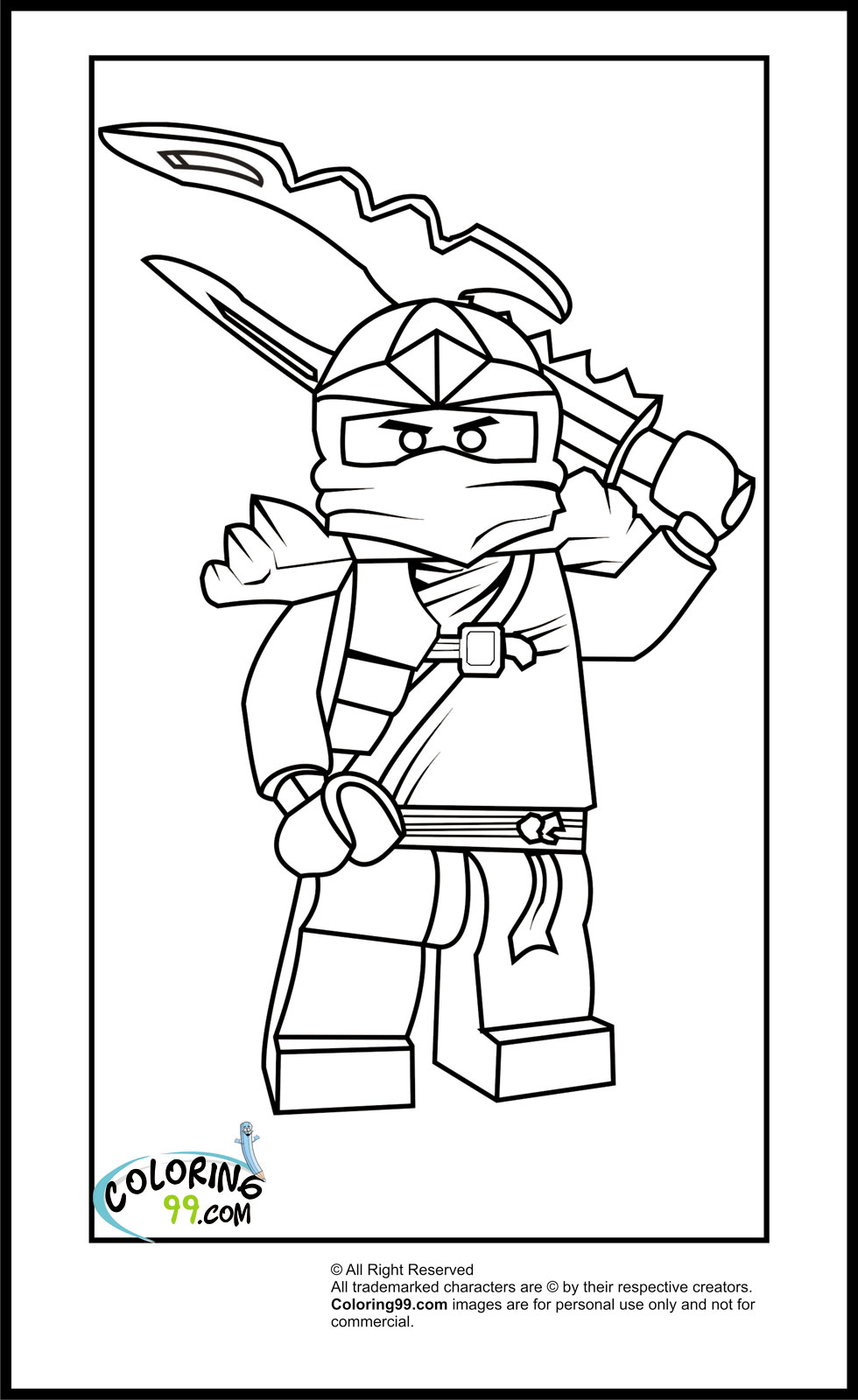980x1600 Lego Ninjago Coloring Pages