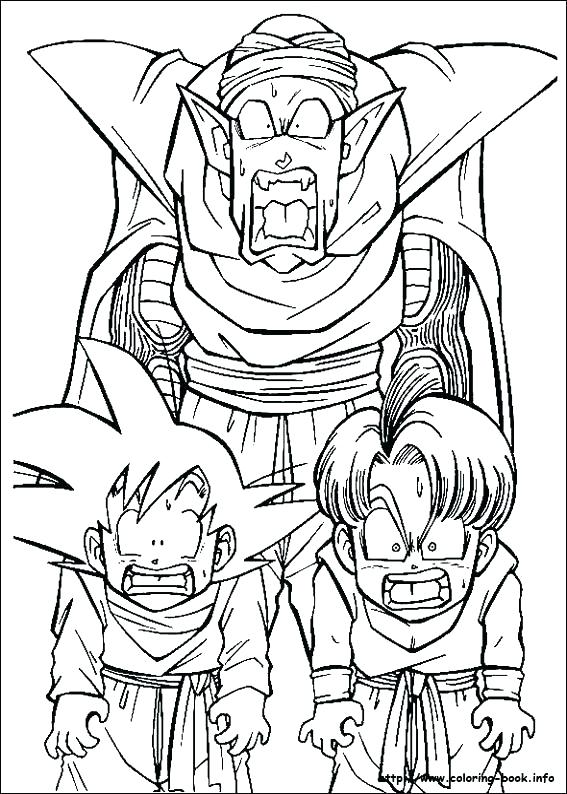 567x794 Kai Coloring Pages Coloring Dragon Ball Z Dragon Ball Z Pictures